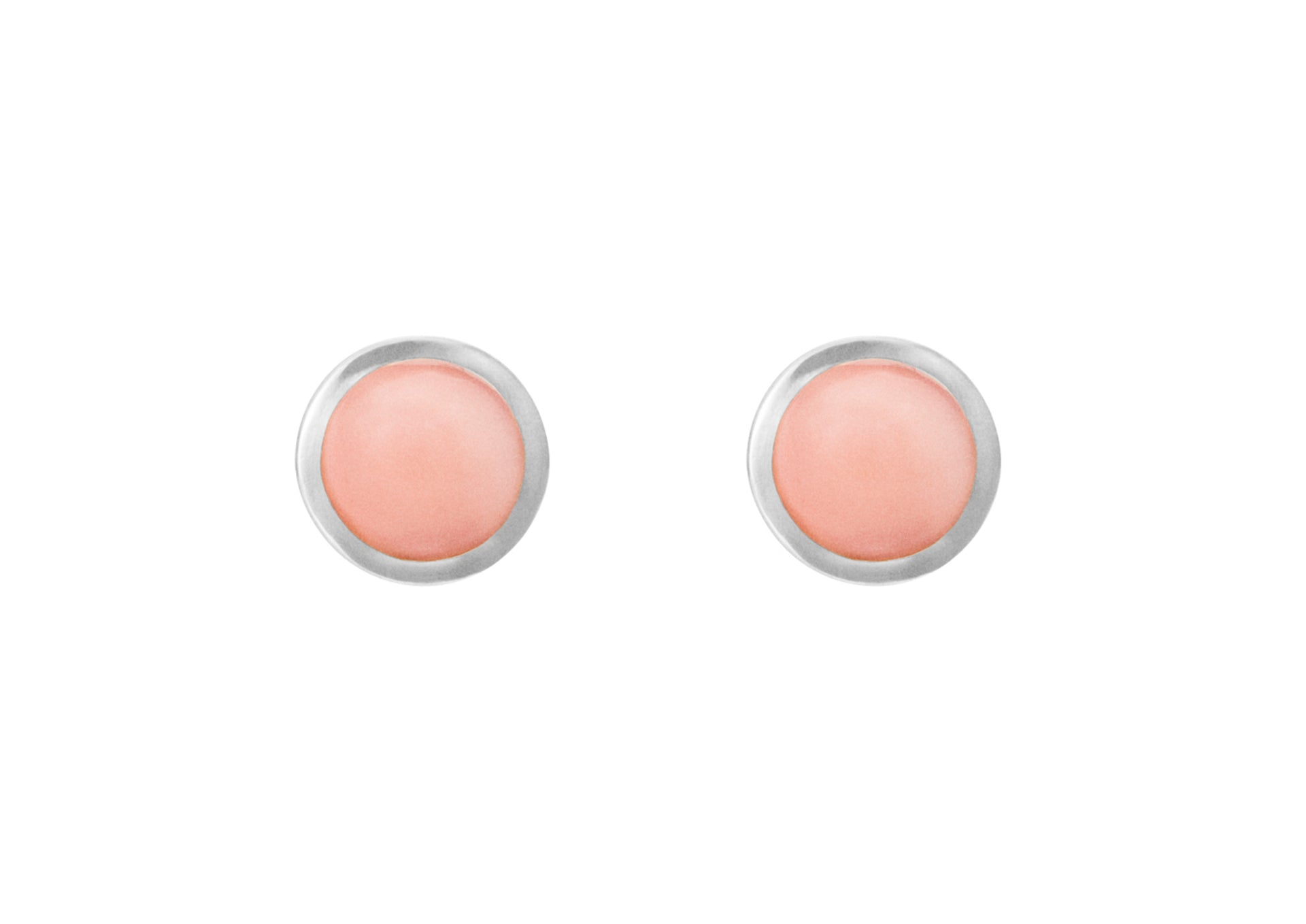 Circus earrings in Sterling silver with coral