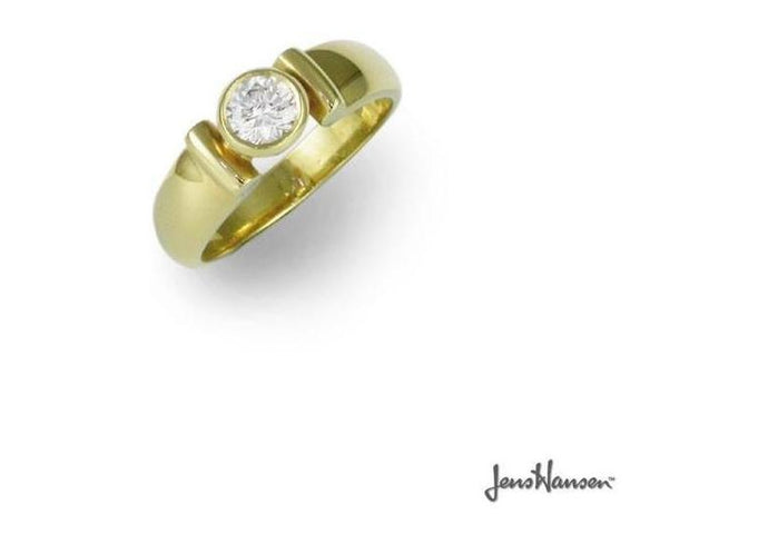 18ct Gold & Solitaire Diamond ring   - Jens Hansen