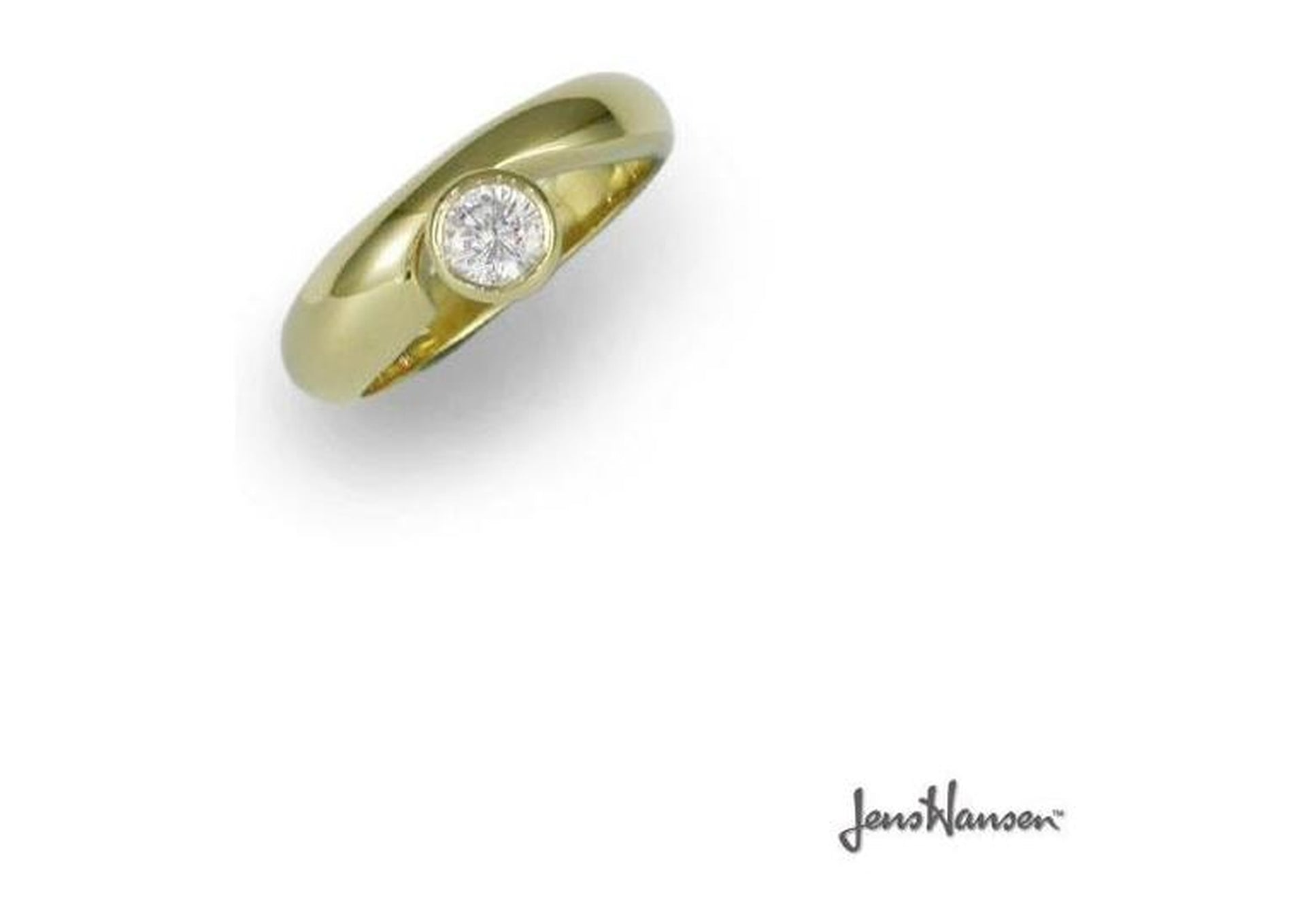 18ct Gold & Brilliant cut Diamond Ring   - Jens Hansen - 1