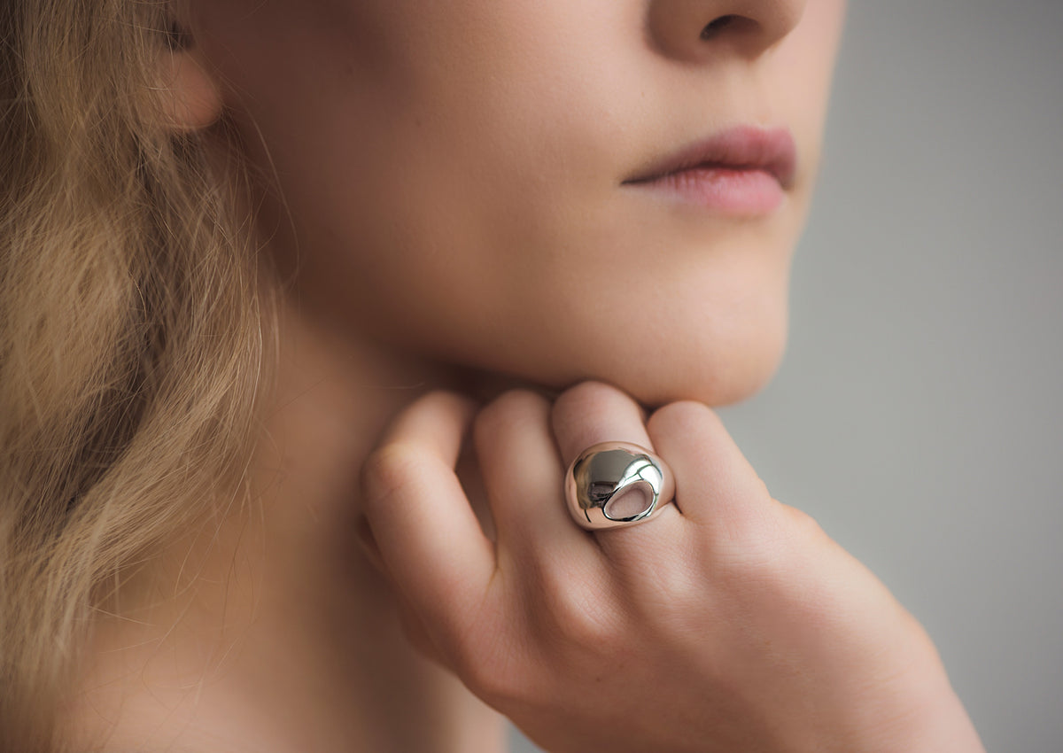 The Silver Kiwi Ring, Sterling Silver