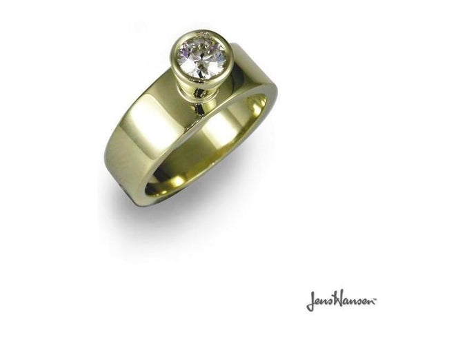 14ct Gold & Moissanite Ring   - Jens Hansen