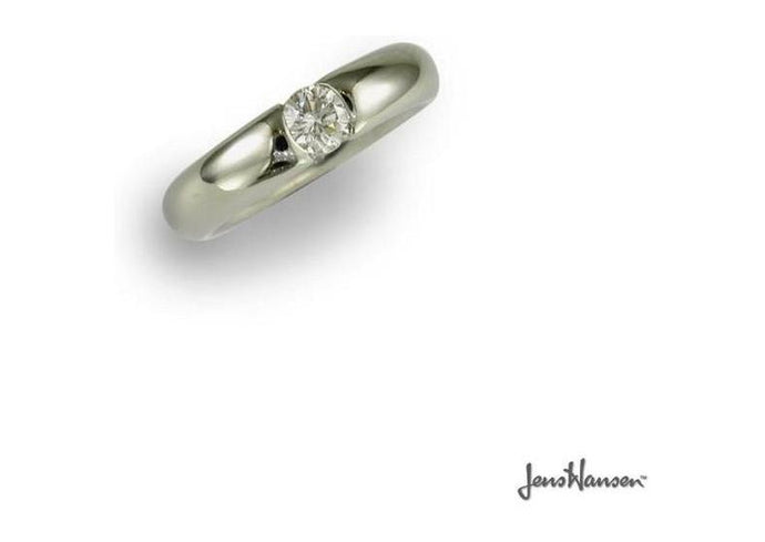 Palladium & Diamond Solitaire Ring   - Jens Hansen