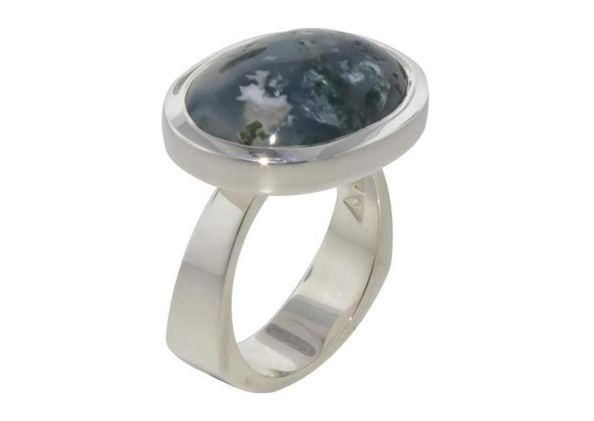 Unique Moss Agate Ring Design   - Jens Hansen