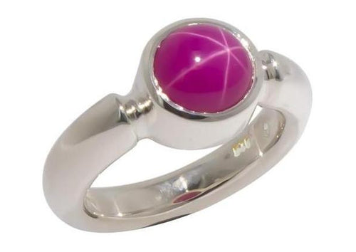 Sterling Silver & Star Ruby Ring   - Jens Hansen
