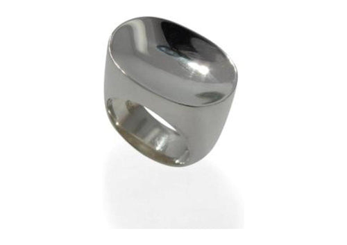 Sterling silver Concave Ring   - Jens Hansen