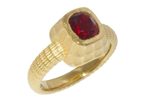 22ct Tanzanian Spinel Ring Design   - Jens Hansen