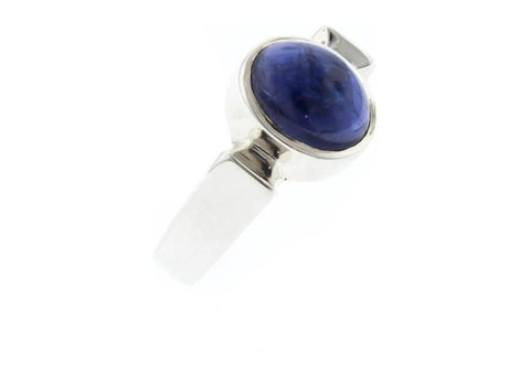 Iolite and Sterling Silver Contemporary Bezel Polished Ring   - Jens Hansen