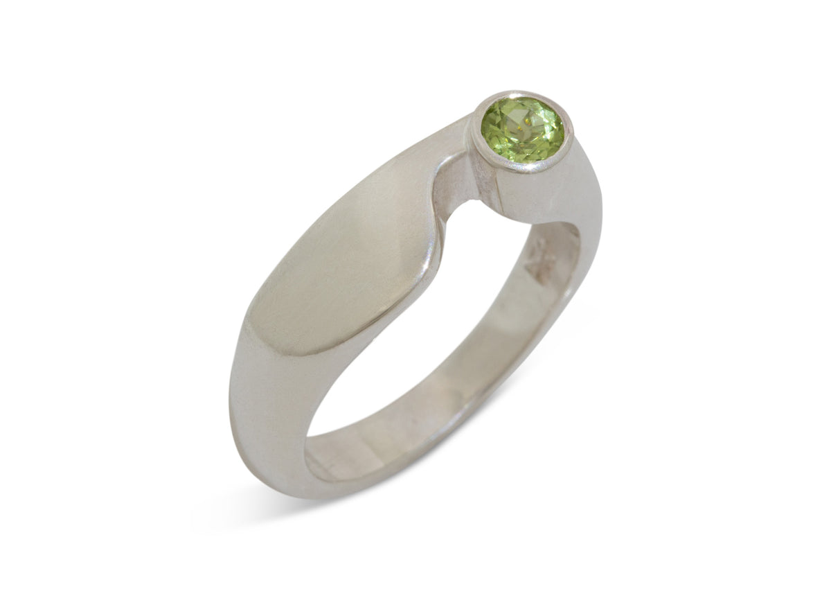 Contemporary Gemstone Ring, Silver Ring