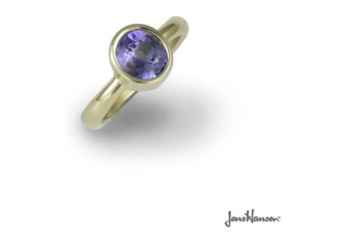 18ct Gold Dress Ring with a Ceylon Sapphire   - Jens Hansen