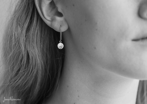 Round Love Stories Diamond Earrings, Sterling Silver