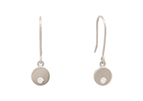 "Round ""Love Stories"" Diamond Earrings, White Gold & Platinum"
