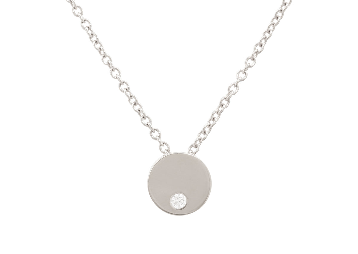 Round Love Stories Diamond Pendant, White Gold & Platinum