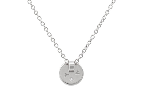 "Round ""Love Stories"" Diamond Pendant, Sterling Silver"
