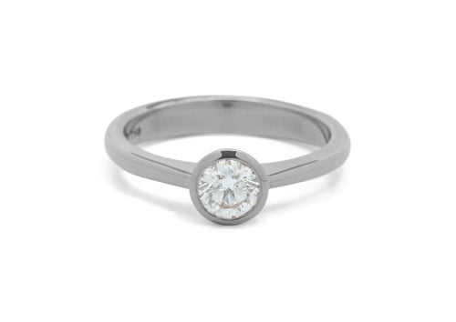 Brilliant Diamond Engagement Ring, White Gold & Platinum