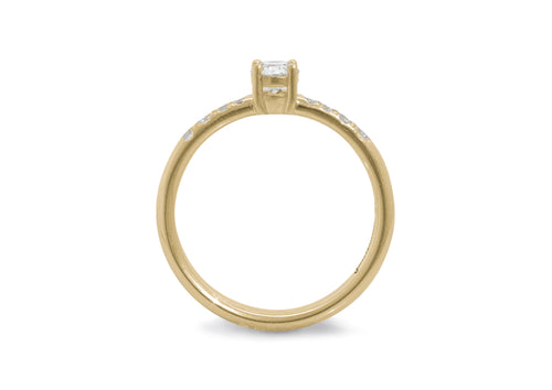Eros Diamond Engagement Ring, Yellow Gold