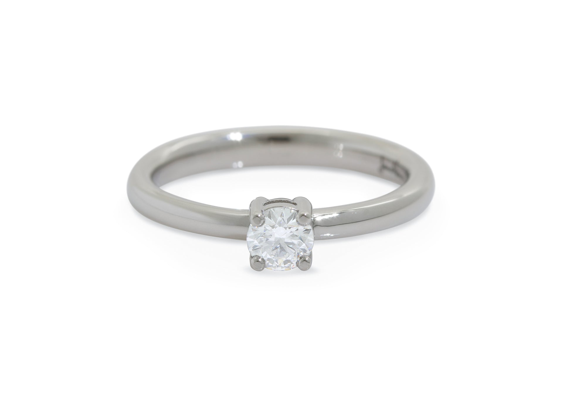 Aria Diamond Engagement Ring, White Gold & Platinum