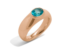Splendid Gemstone Ring, Red Gold
