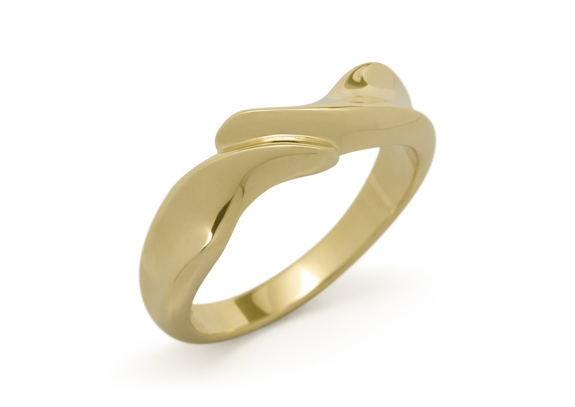 Geometric Dress Ring, Yellow Gold