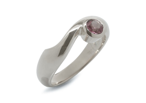 Delicate Gemstone Ring, Sterling Silver