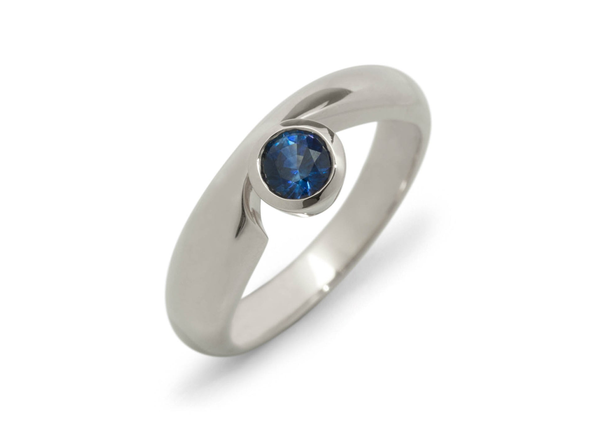 Dainty Gemstone Ring, White Gold & Platinum