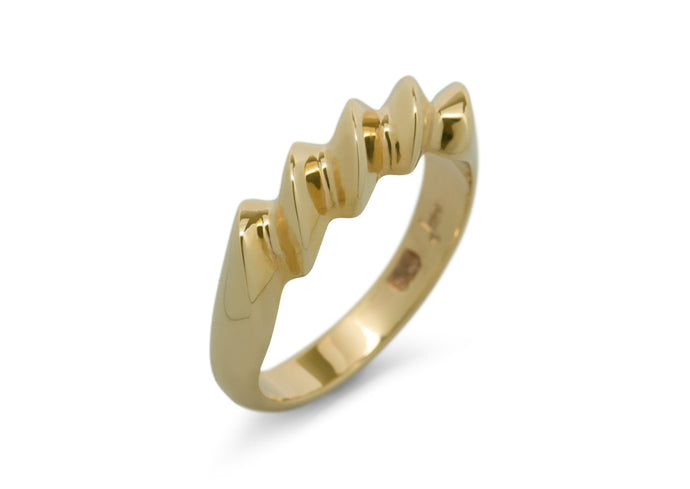 Twist Ring, Yellow Gold