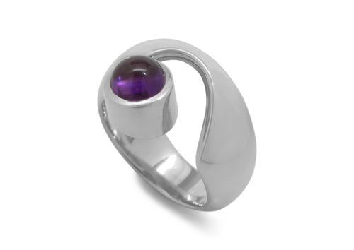 Wondrous Cabochon Gemstone Ring, Sterling Silver