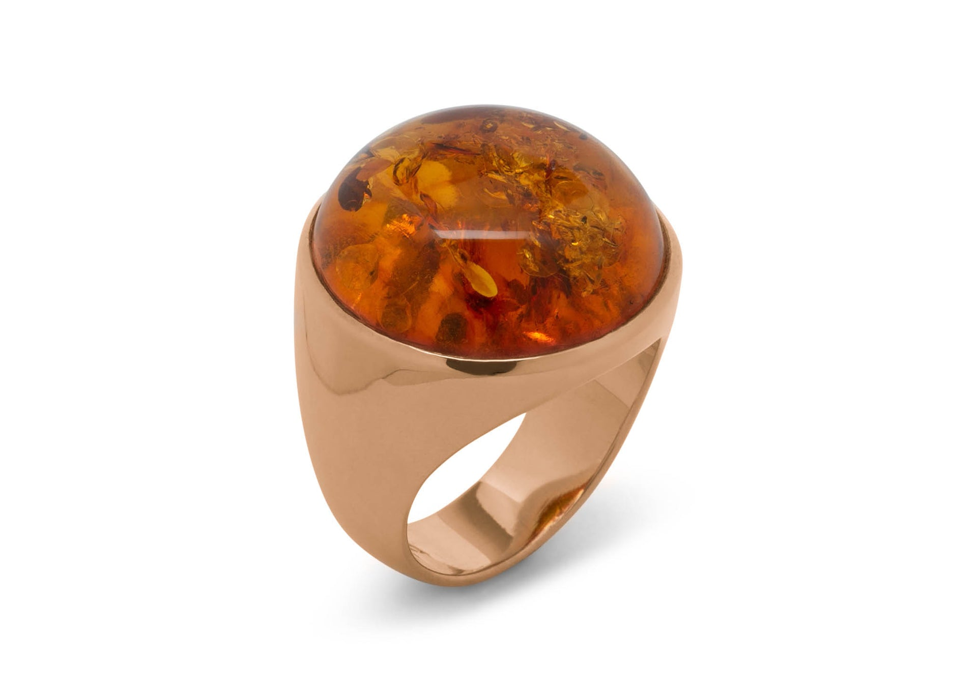 Incredible Cabochon Gemstone Ring, Red Gold