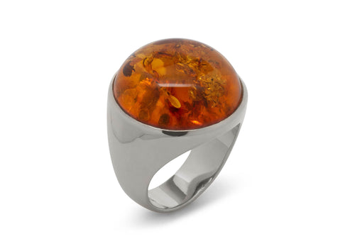 Incredible Cabochon Gemstone Ring, Sterling Silver