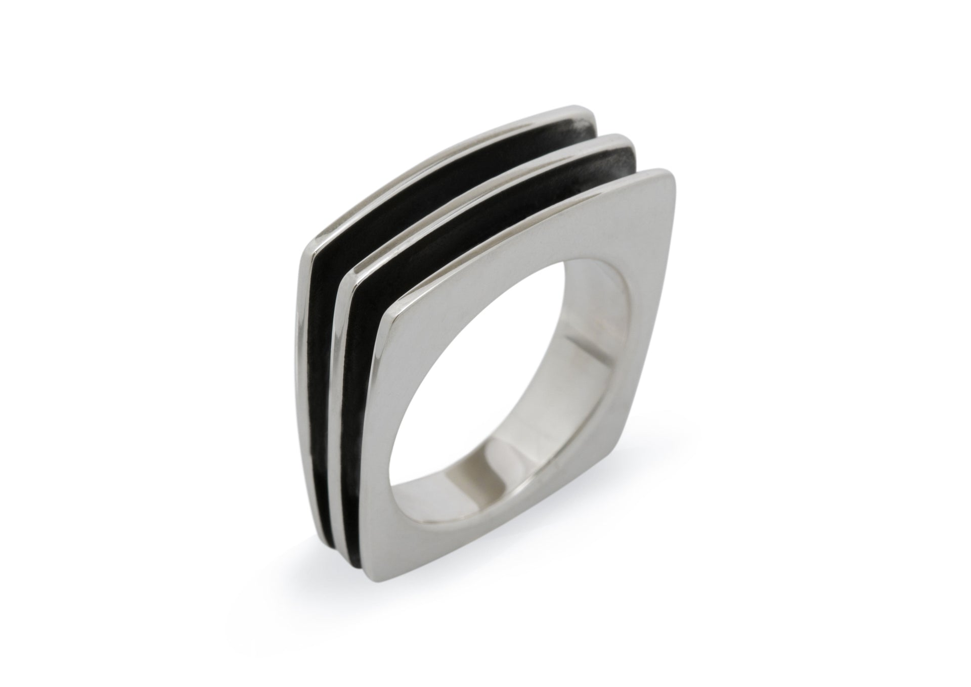 Square Fin Ring, Sterling Silver