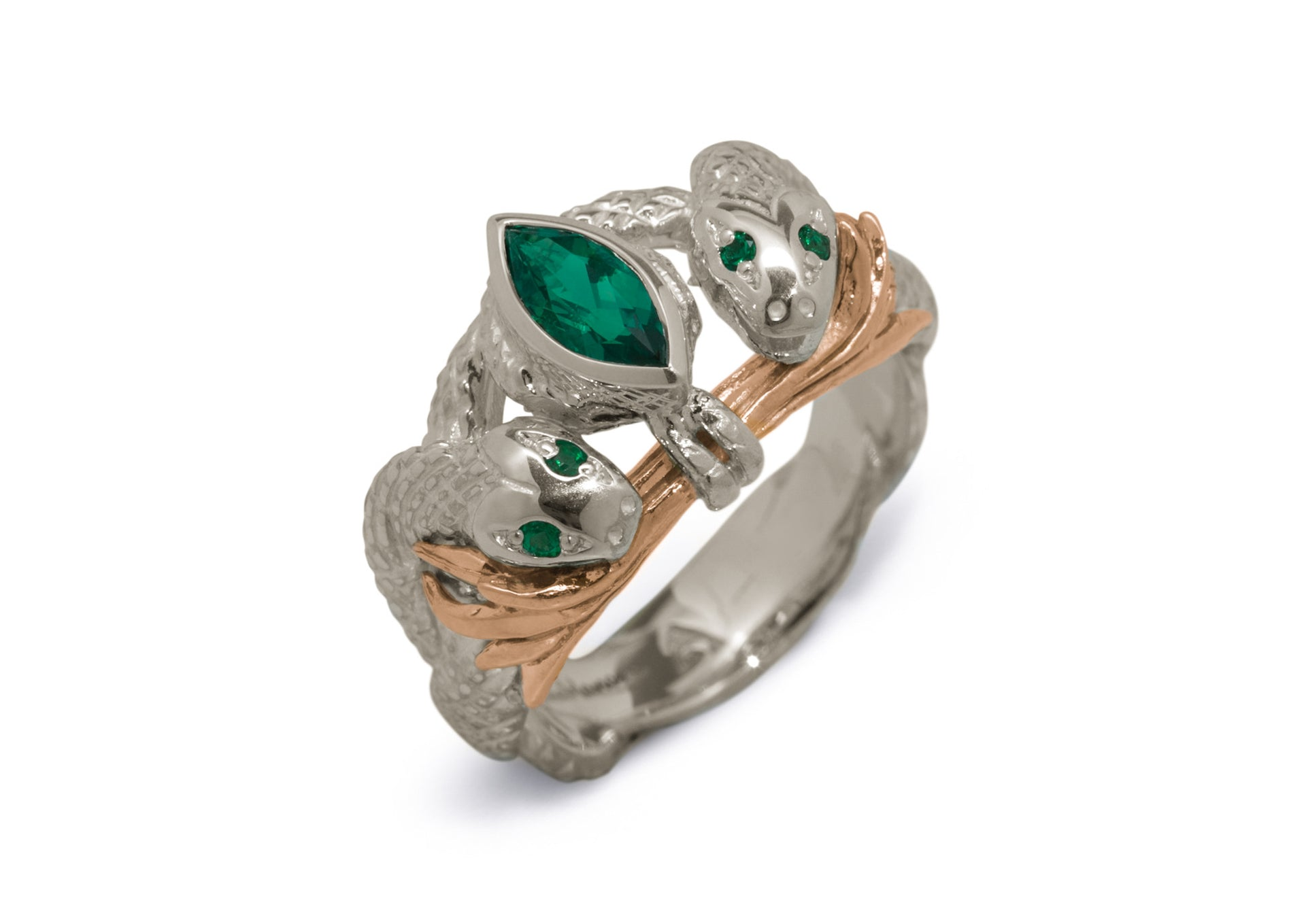 Our Ring for Viggo, White Gold or Platinum & Red Gold