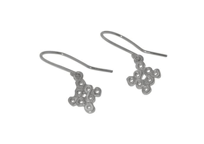 Baroque Style Earrings, Sterling Silver