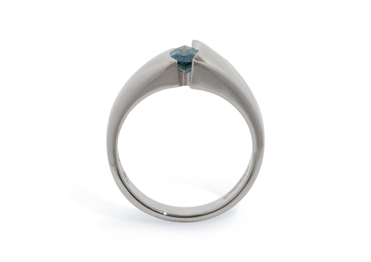 Alluring Marquise Gemstone Ring, Sterling Silver