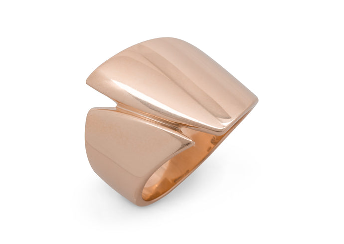 Signature Asymmetric Ring, Red Gold
