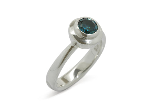 Sumptuous Gemstone Ring, White Gold & Platinum