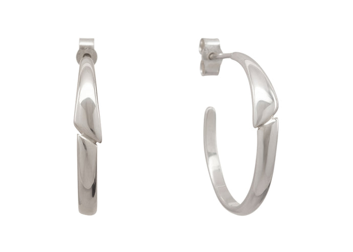 Asymmetric Earrings, Sterling Silver
