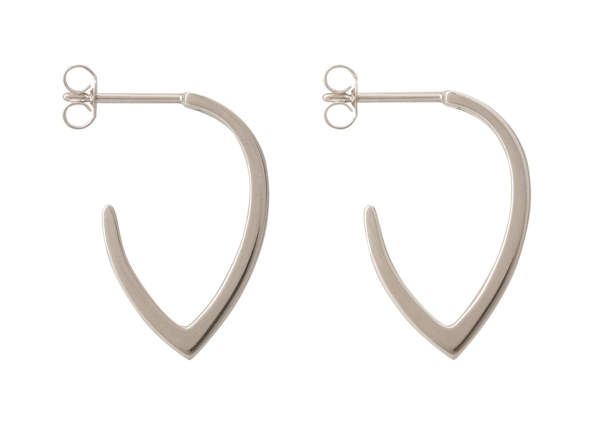 """Sydney Fin"" Earrings, White Gold & Platinum"