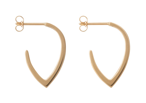 """Sydney Fin"" Earrings, Yellow Gold"