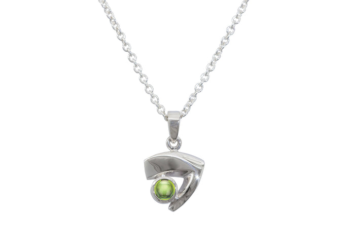Signature Cabochon Gemstone Pendant, Sterling Silver