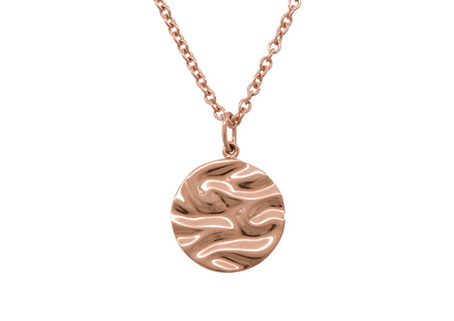 Silk Wave Pendant, Red Gold