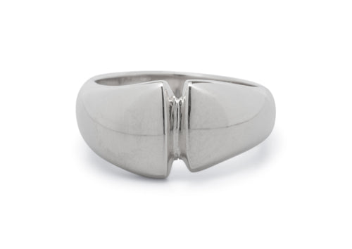 Geometric Dome Ring, Sterling Silver