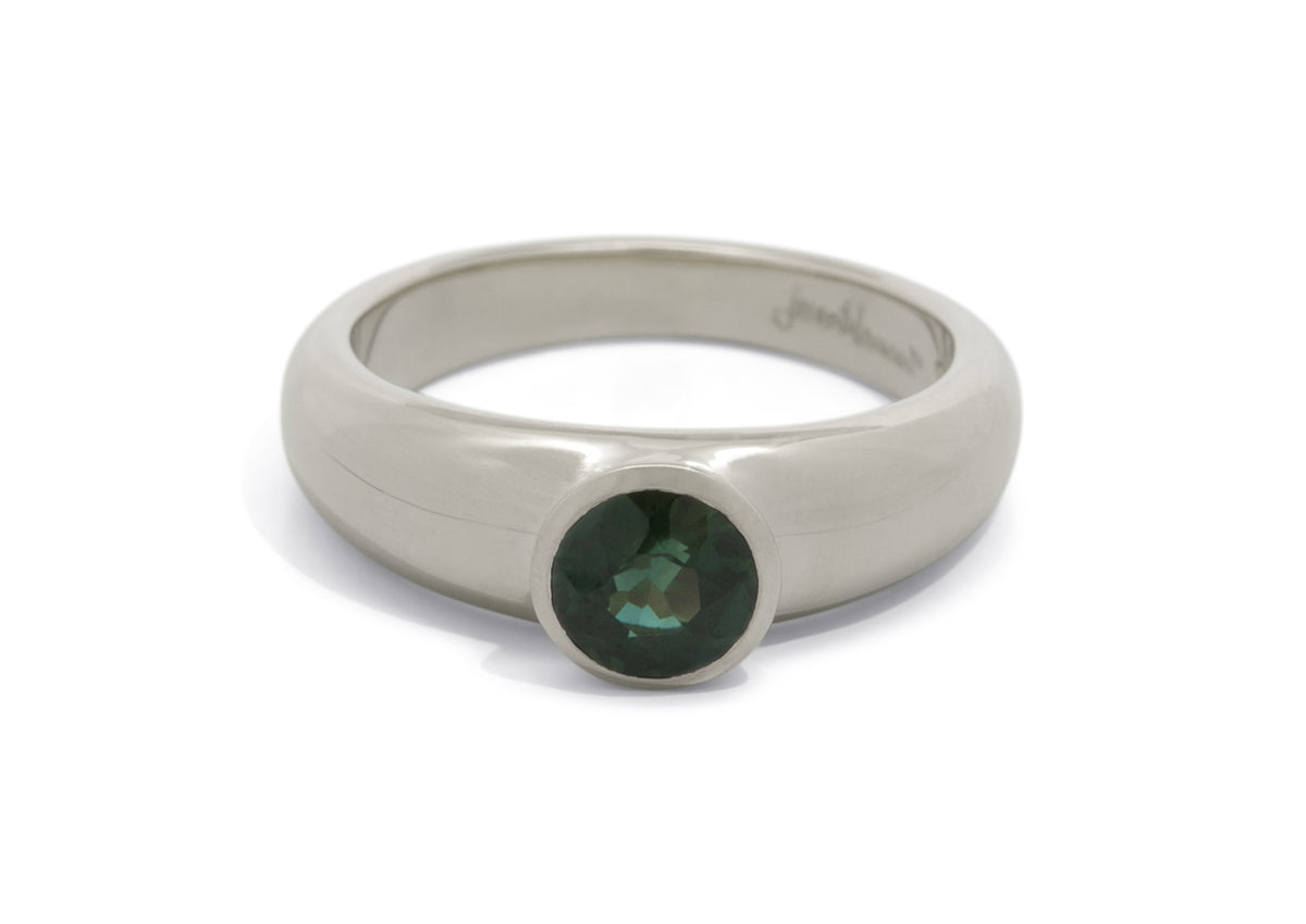 Resplendent Gemstone Ring, White Gold & Platinum