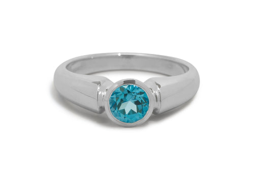 Timeless Gemstone Ring, Sterling Silver