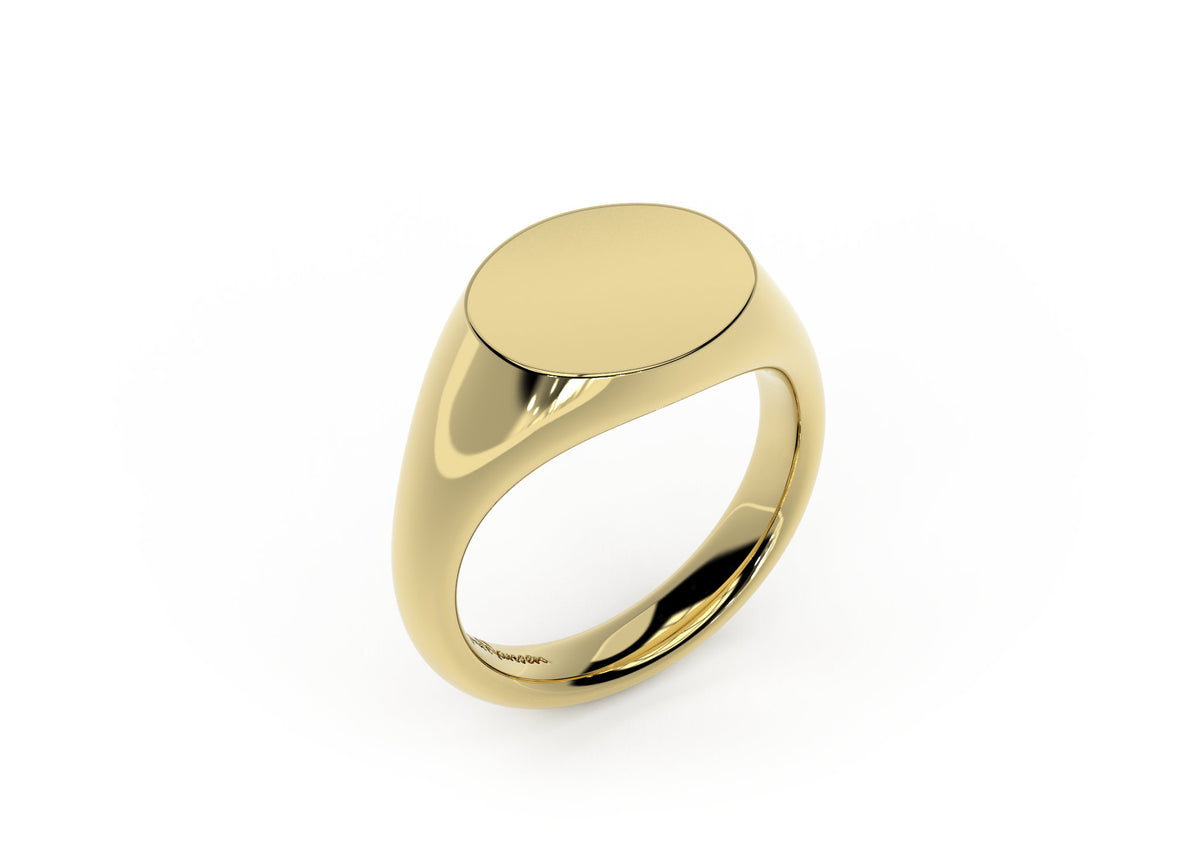 Landscape Signet Ring, Yellow Gold