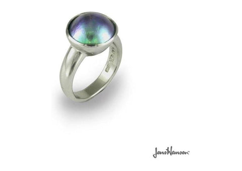 Palladium Ring with Paua Pearl   - Jens Hansen
