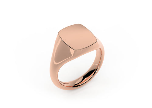Quadrant Signet Ring, Red Gold