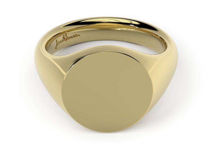 Round Signet Ring, Yellow Gold