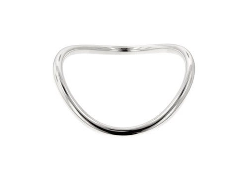 Round Wavy Bangle, Sterling Silver