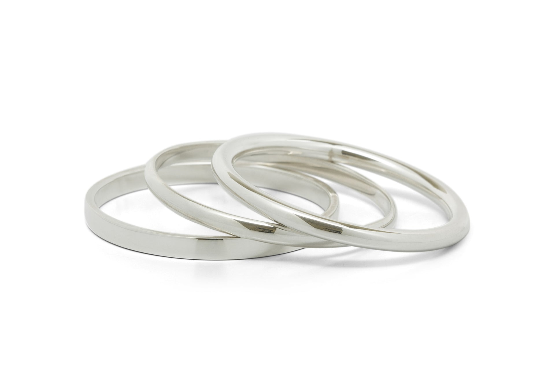 Baby Bangles, Sterling Silver