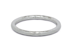 Luxury Hammered Bangle, Pure Silver