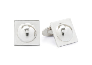 Dome Cufflinks, Sterling Silver